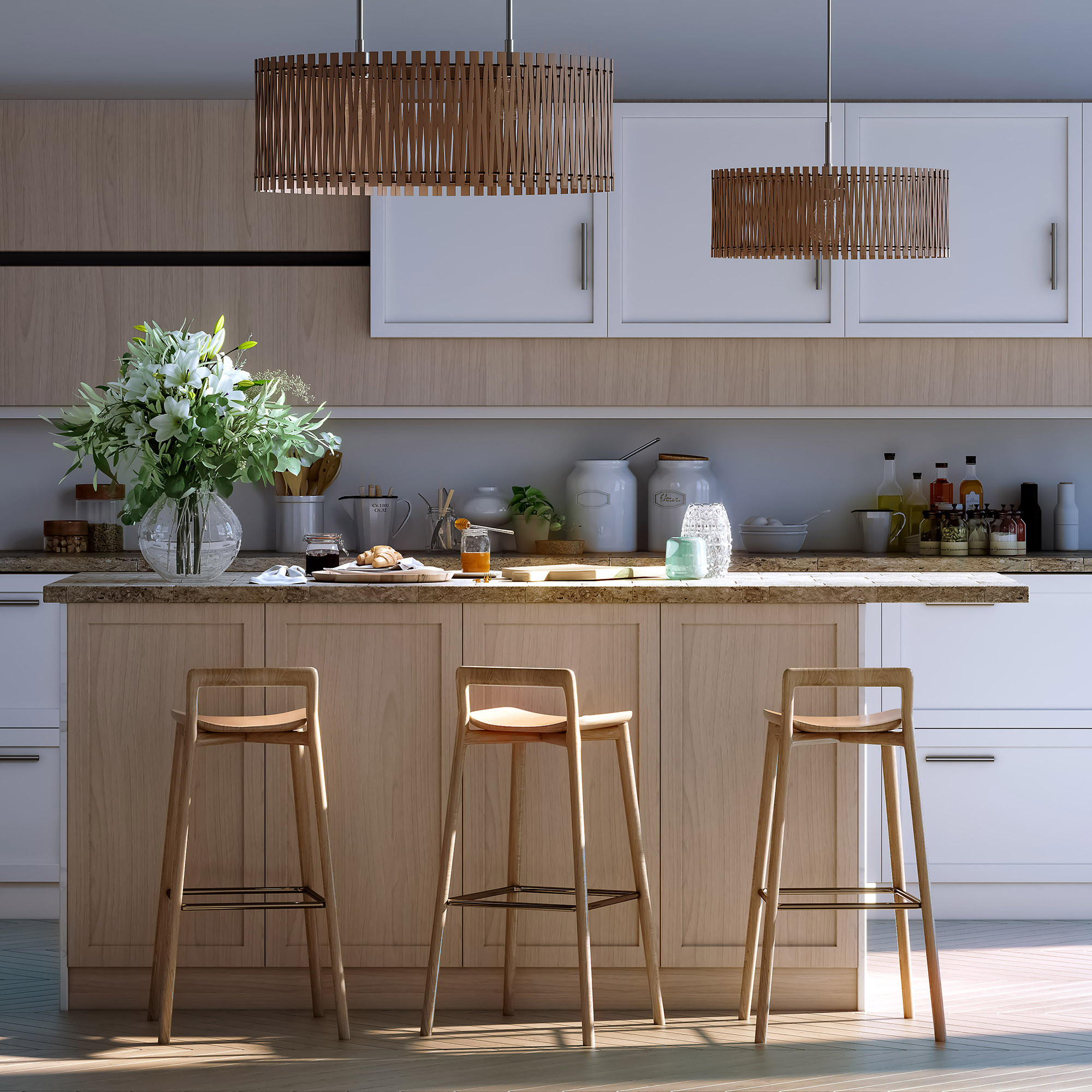 Studio Kitchen  3ds Max V-Ray Photoshop Asset: 3dBrute Materials and Lighting Rendering Lente Scura 5SRW - Learning V-Ray Method