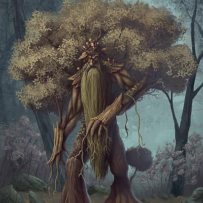 Jonathan gebel treeman with added background jonathan gebel artstation