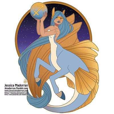 Jessica madorran patreon may 2021 zodiac mermaid sagittarius artstation