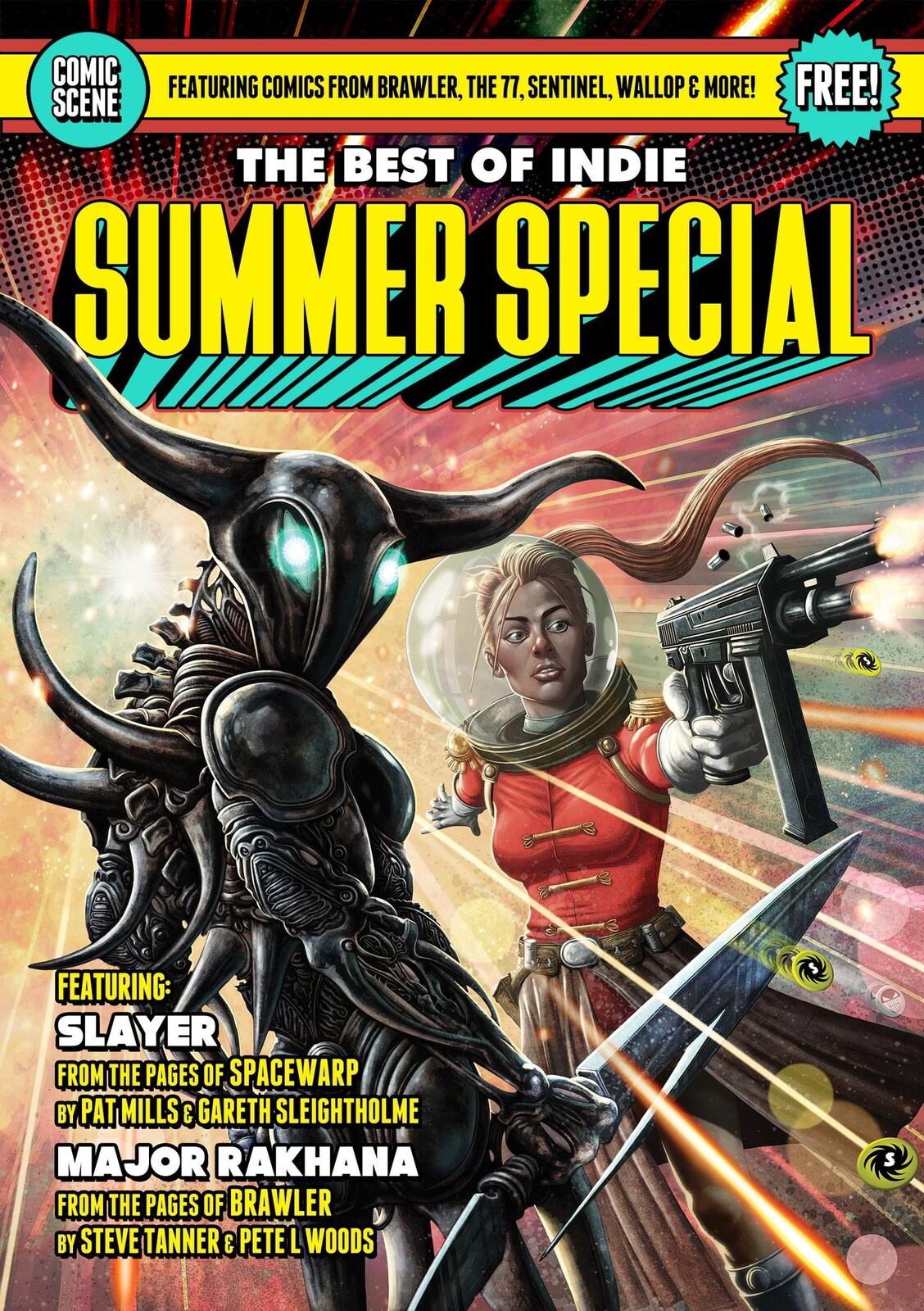 Comic Scene Summer Special Cover with text