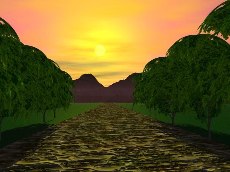 Walkway to Mountain