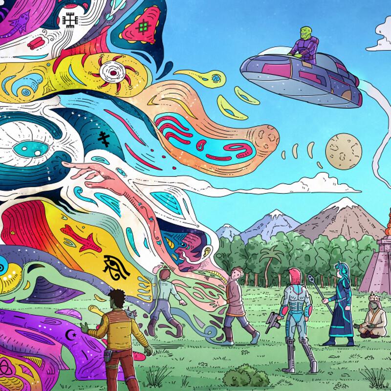 Realm of Mu Sci-fi Illustration