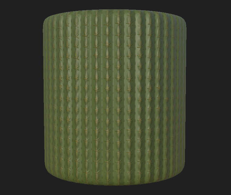 The stylized cactus texture I made in Substance Designer