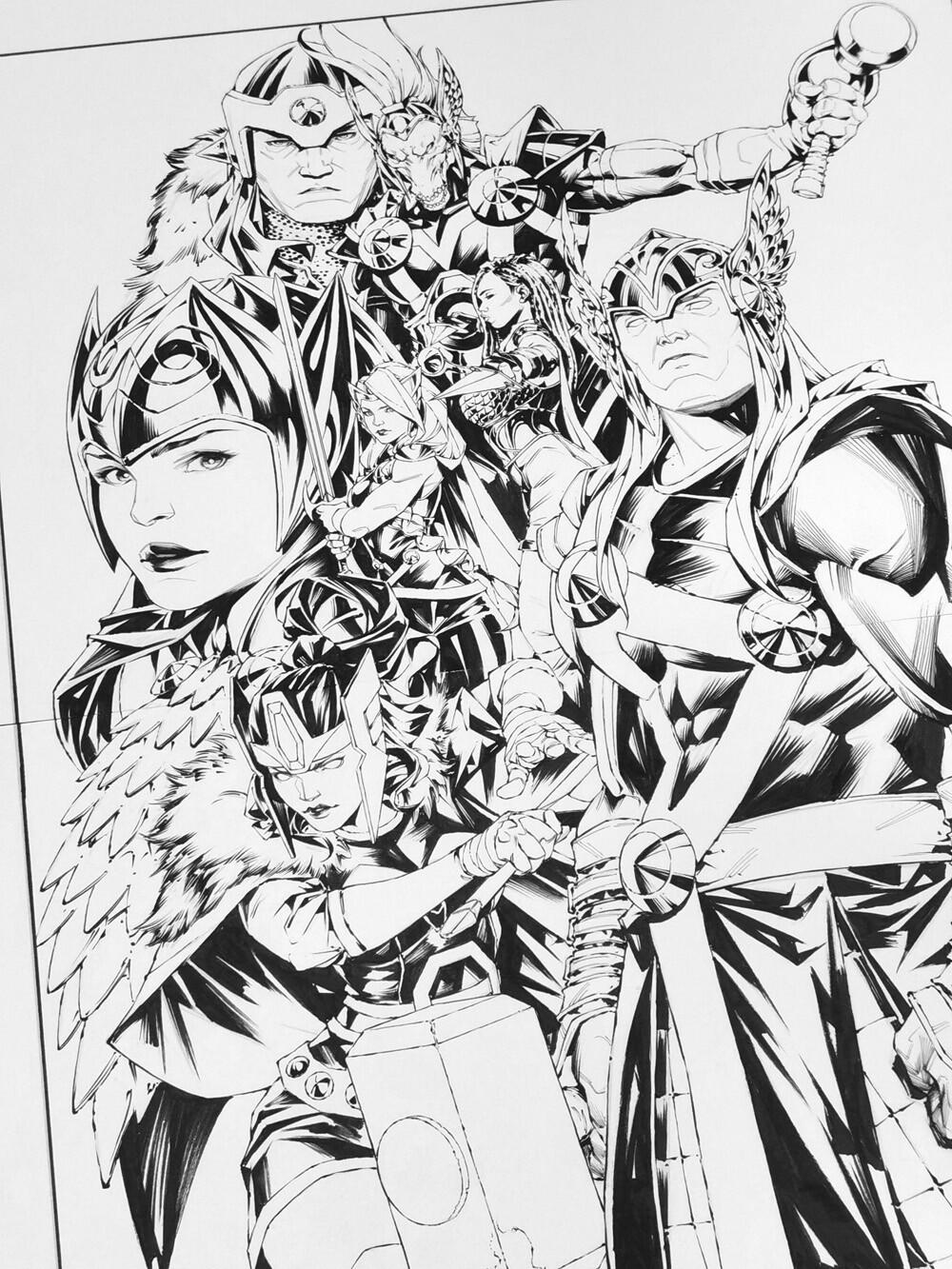 Thor ink detail