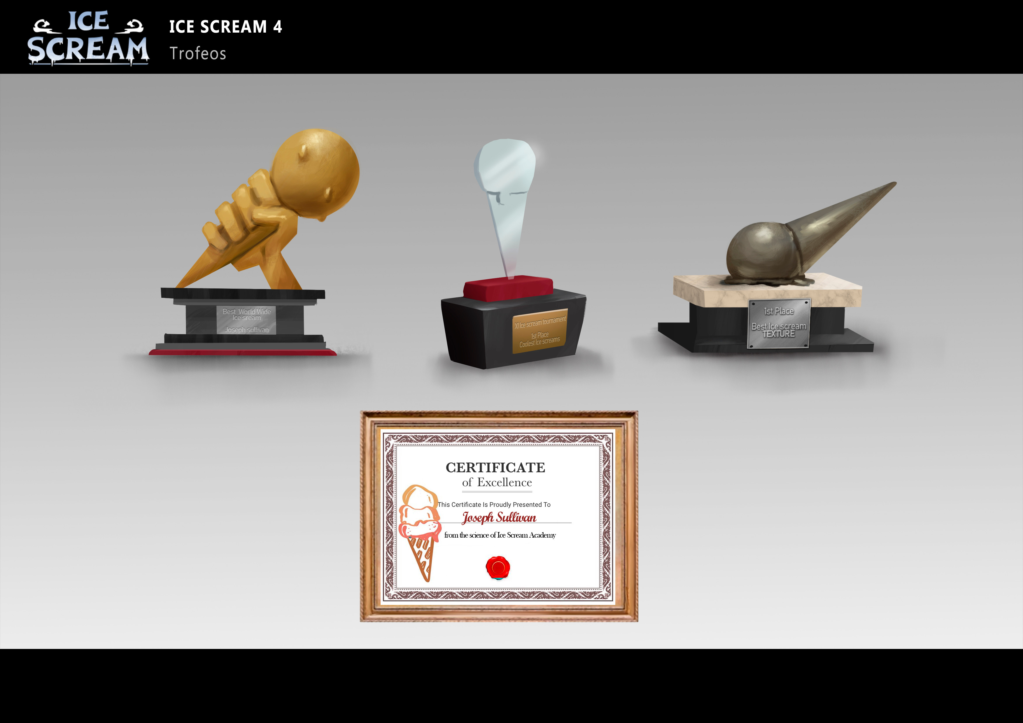 Some trophies from the hall of fame of Joseph´s museum