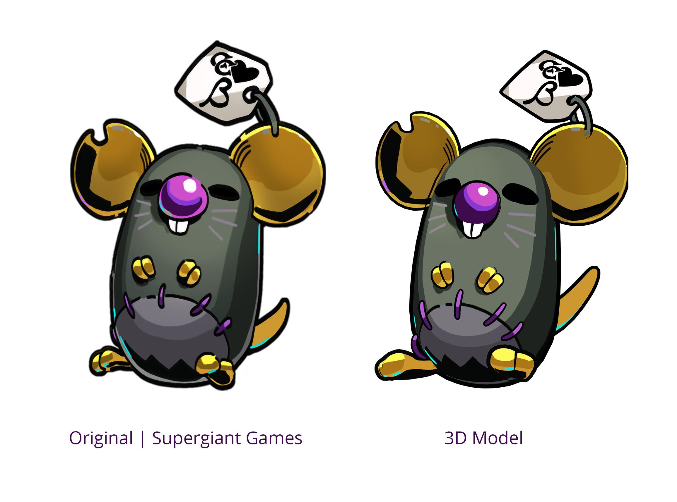 Original Art vs 3D Model