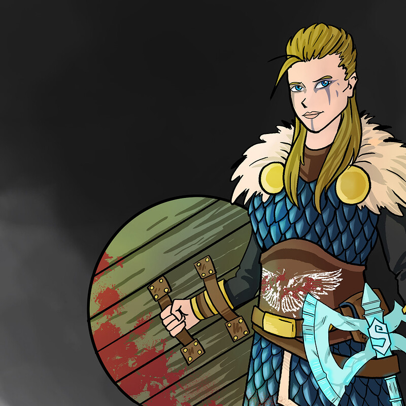 Gyda the Fighter - DnD Character Art Series
