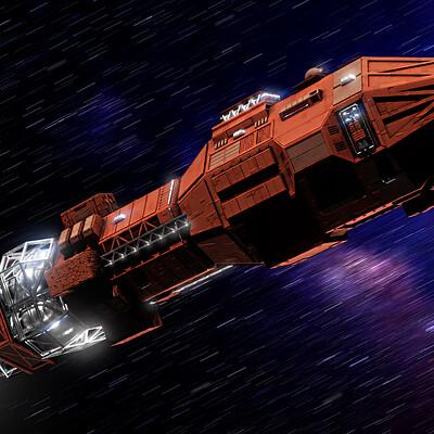 Daniel grove scifi kitbash 2 ship 2