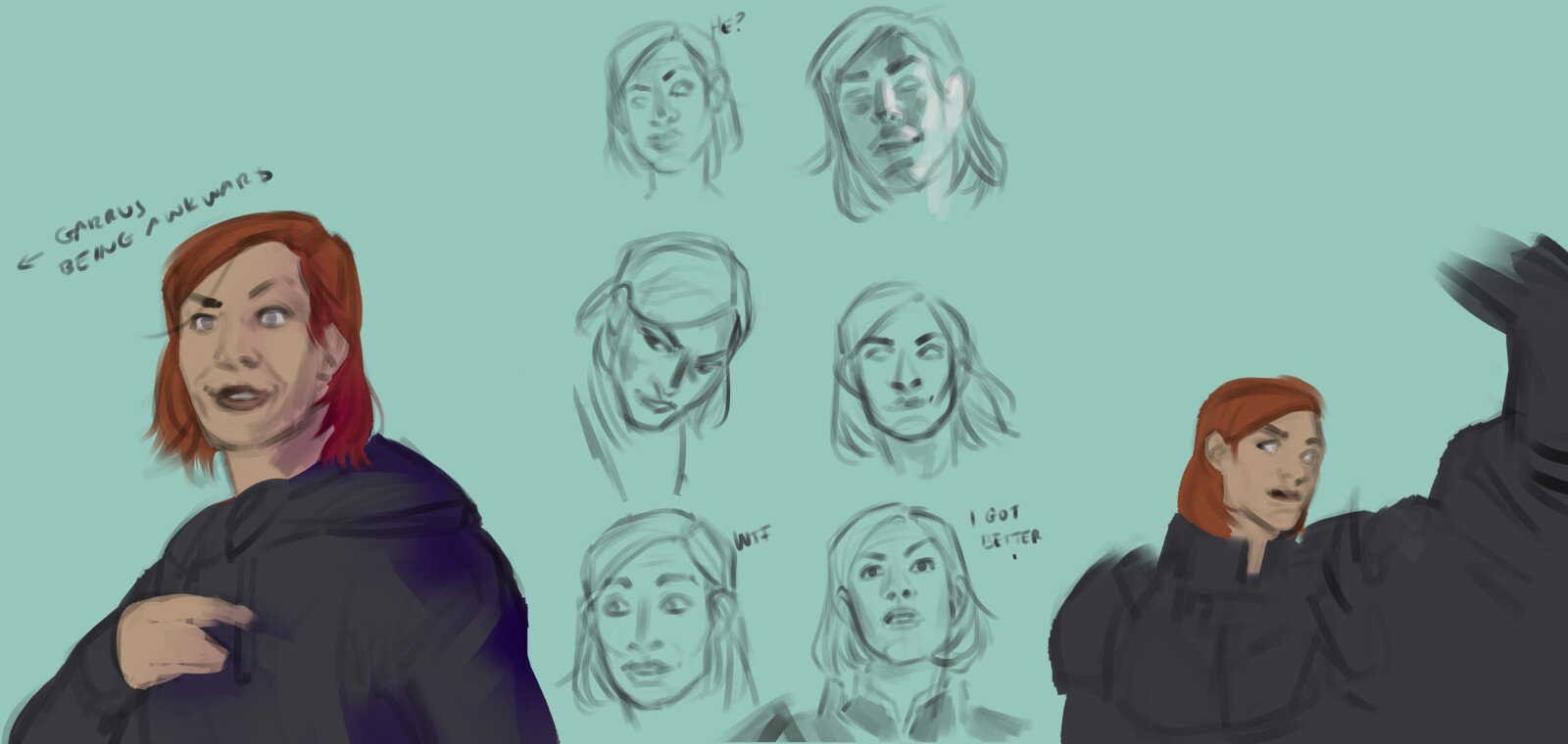Sketches based on screenshots
