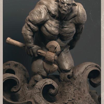 Surajit sen troll digital sculpture surajitsen may2021aa l