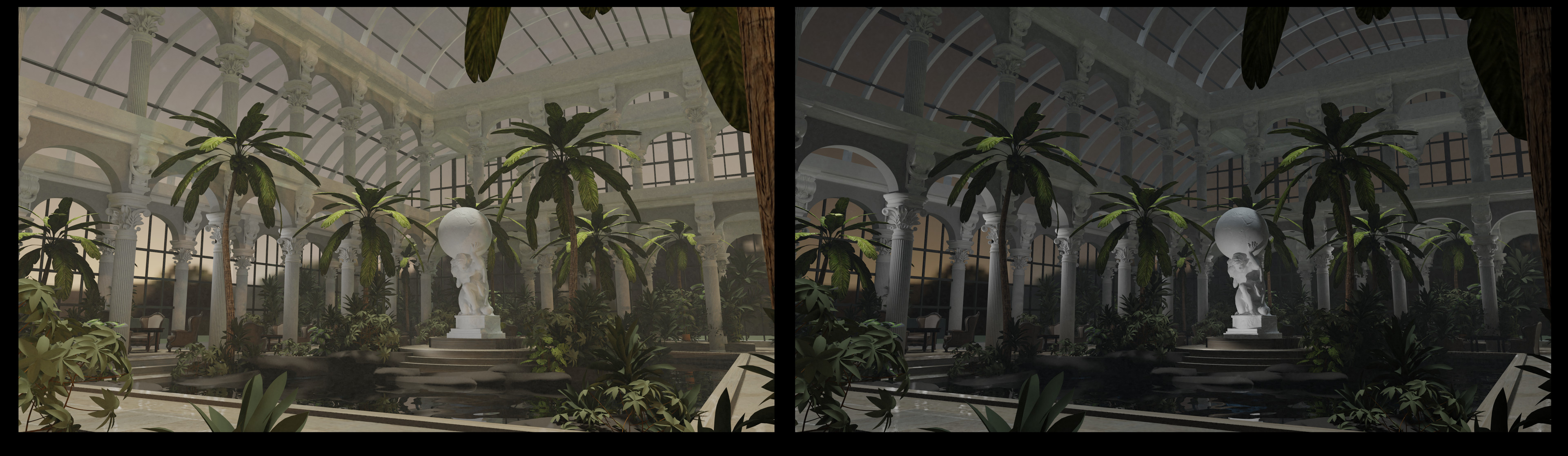 Day and Night lighting variations in Blender
