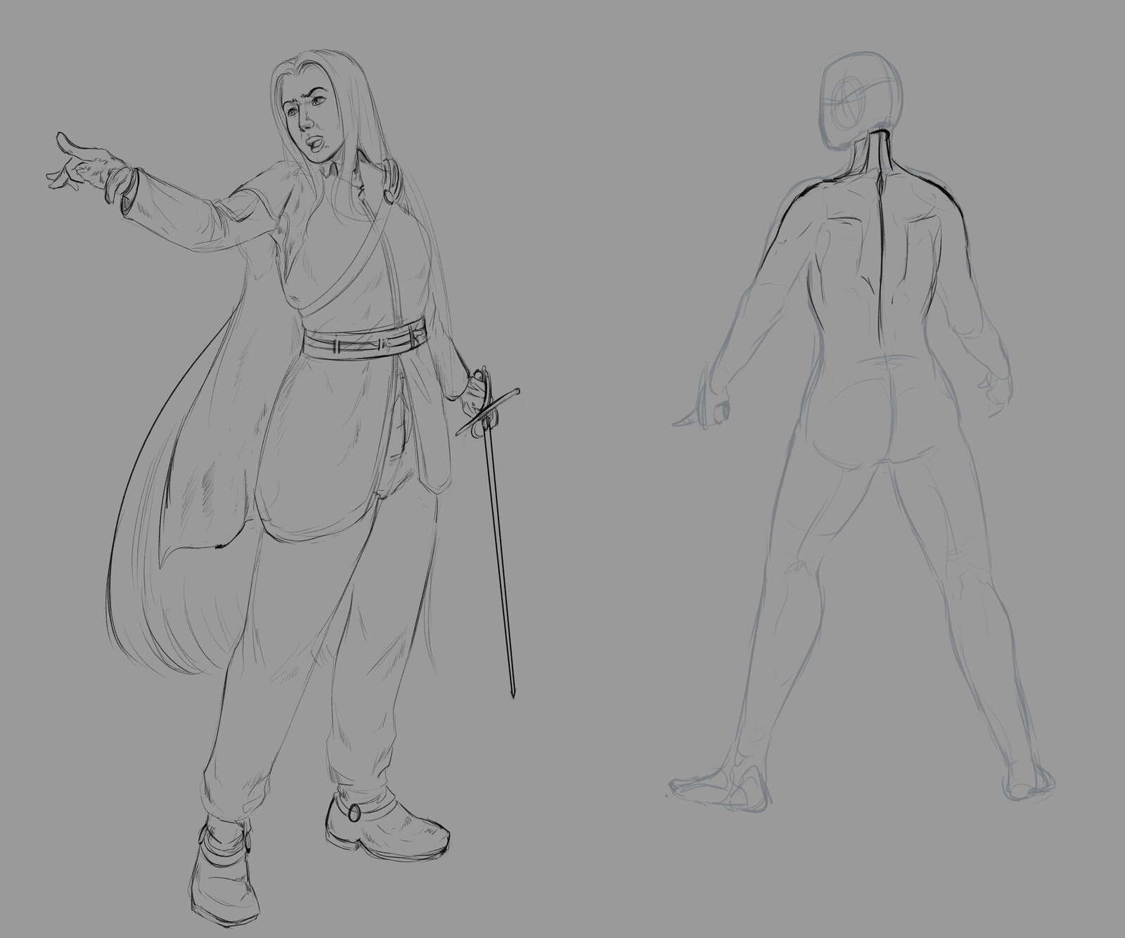 in the original concepts she would be a kind of '' shadow '' of a character of mine in another story, where in the end it would be the great internal conflict.