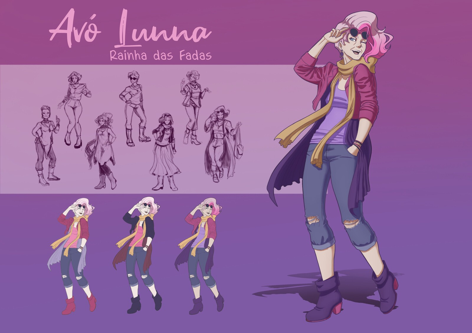 Her Grandma, Lunna, is an outgoing and modern old lady. She loves to travel around the world. Shes quite the cool grandma!
