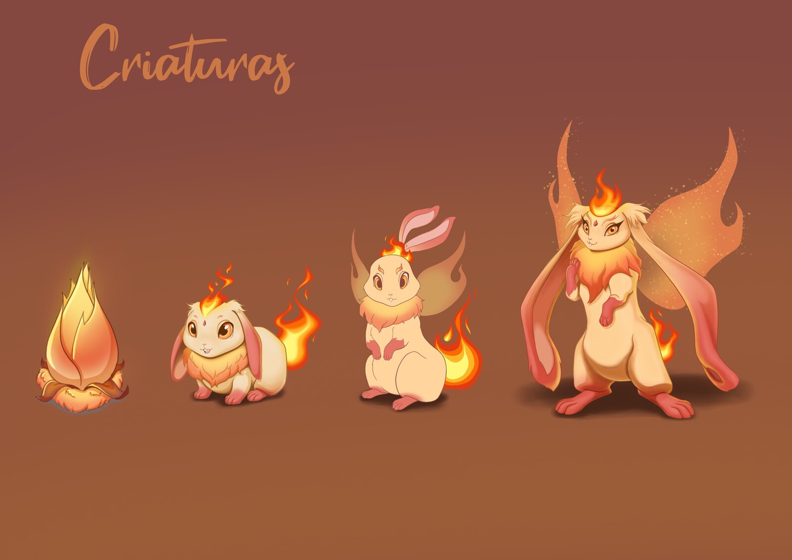 Some of the creatures of the Fire Kingdon.