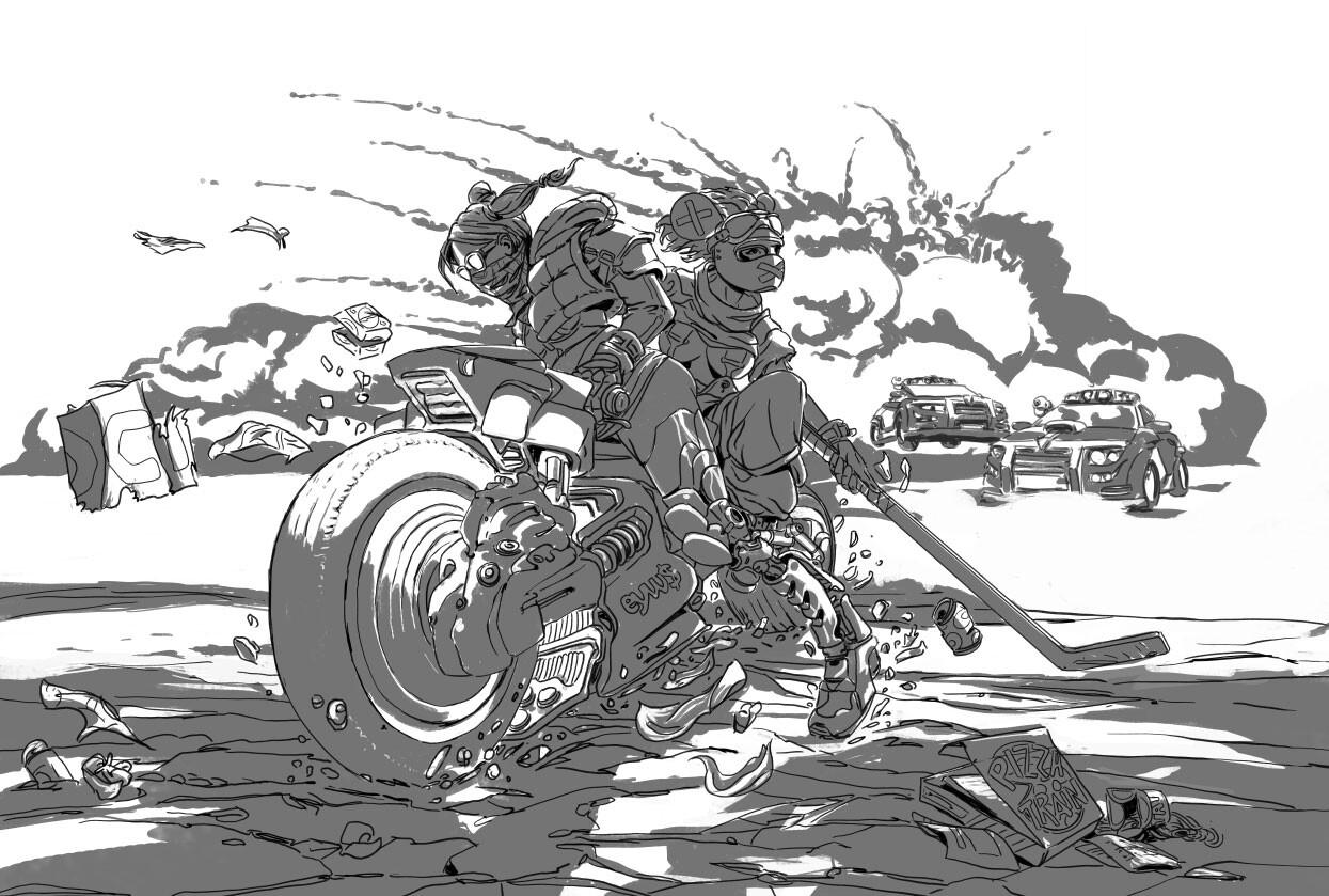 Night Ride Sketch