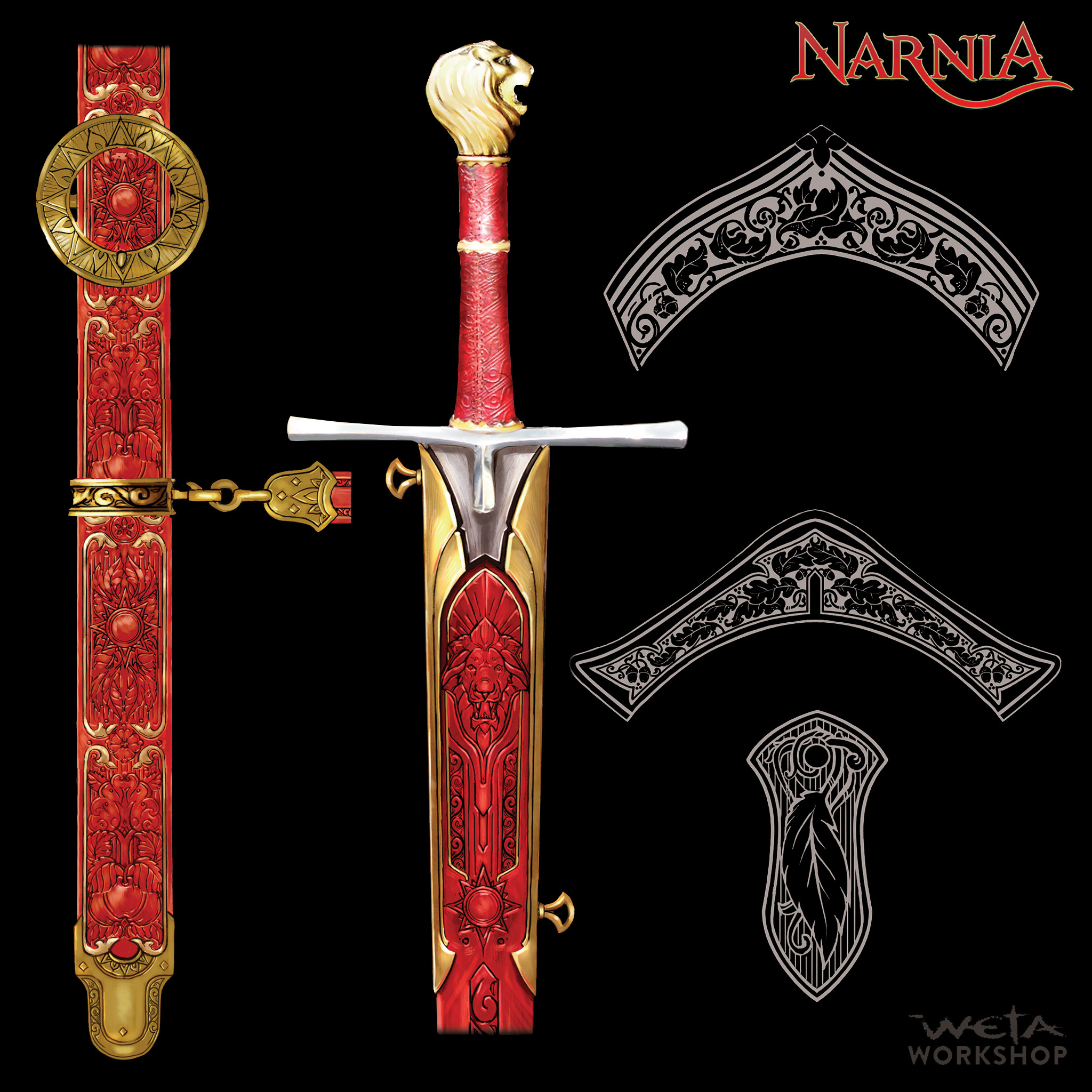 Peter's Sword & Scabbard, Amour Ornamentation