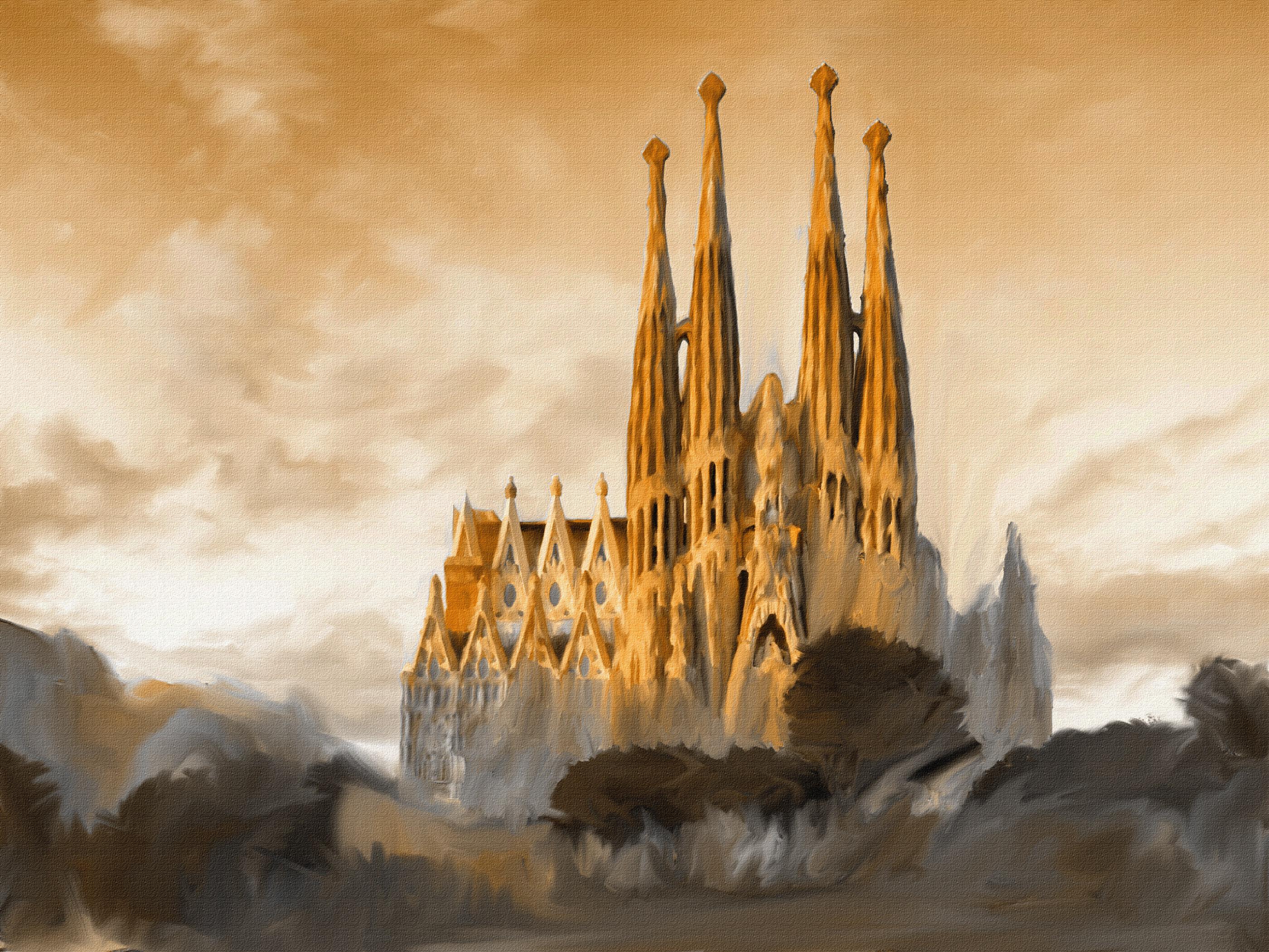 ArtStation   Sagrada Familia, Alexandru Ghilan