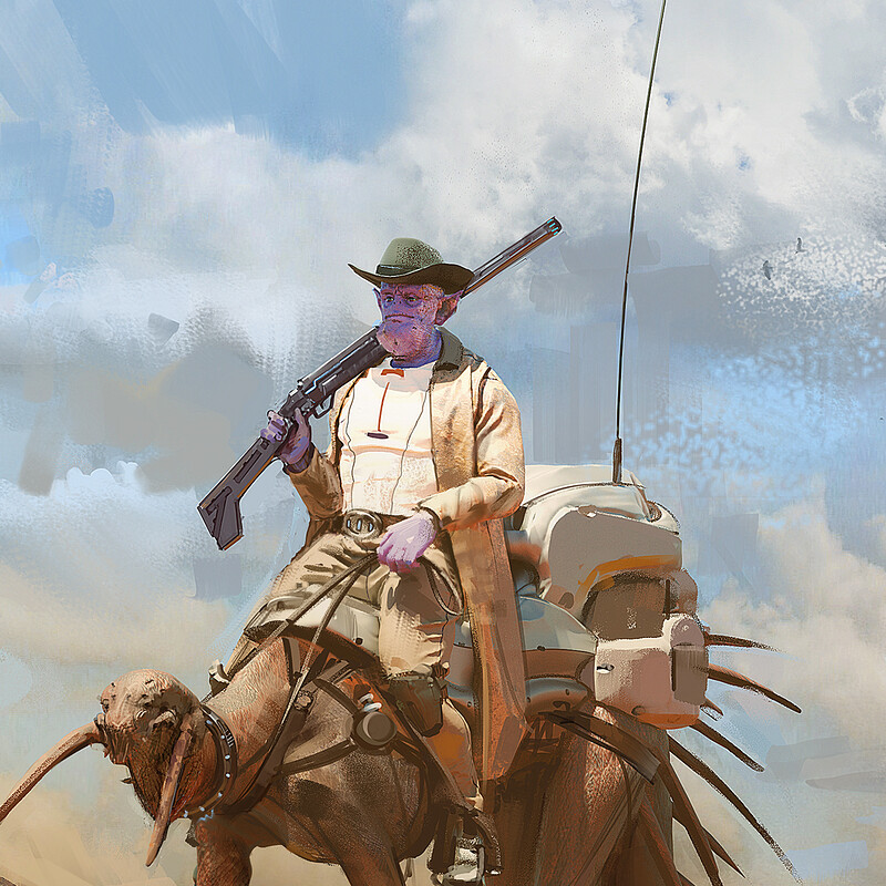 Space Western Tank Character