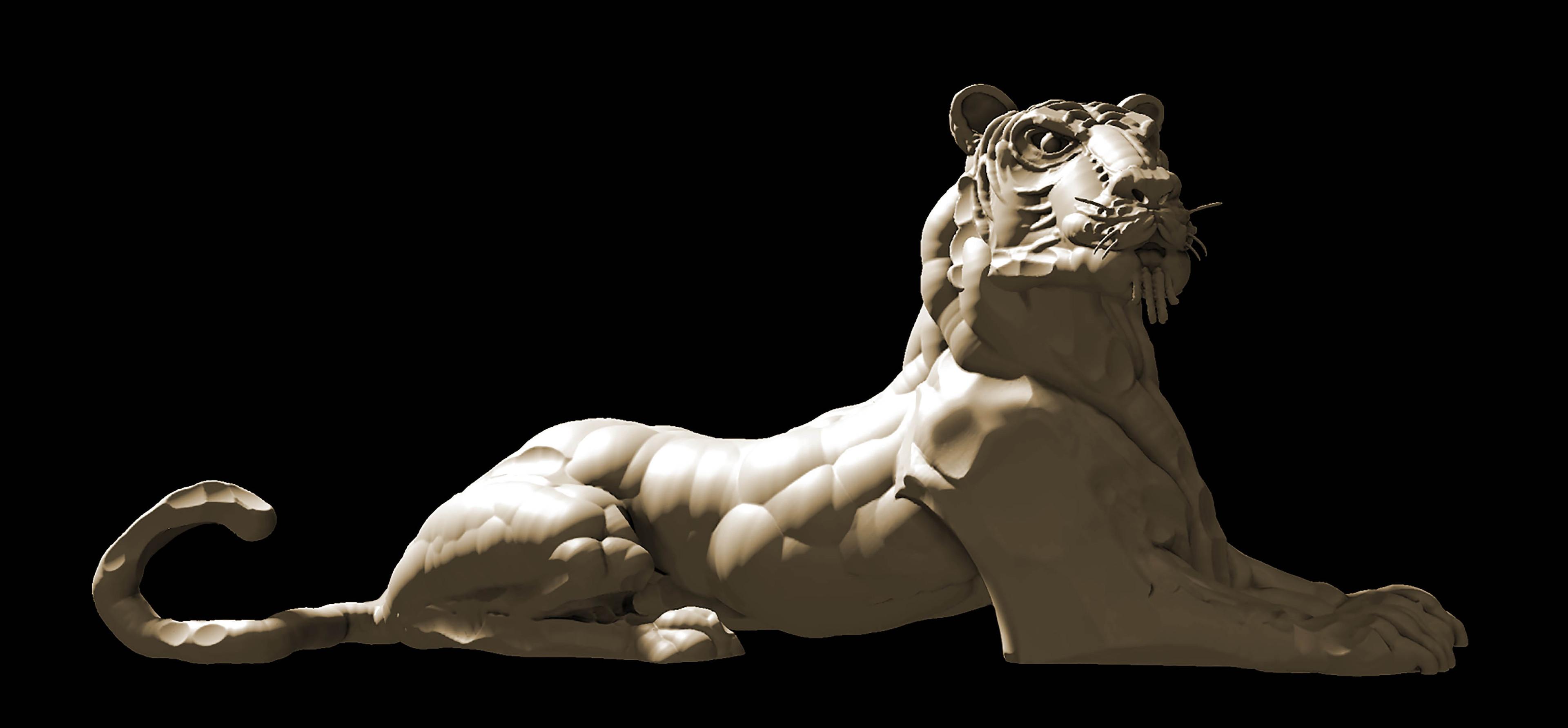 Tiger sculpt in VR using Adobe Medium