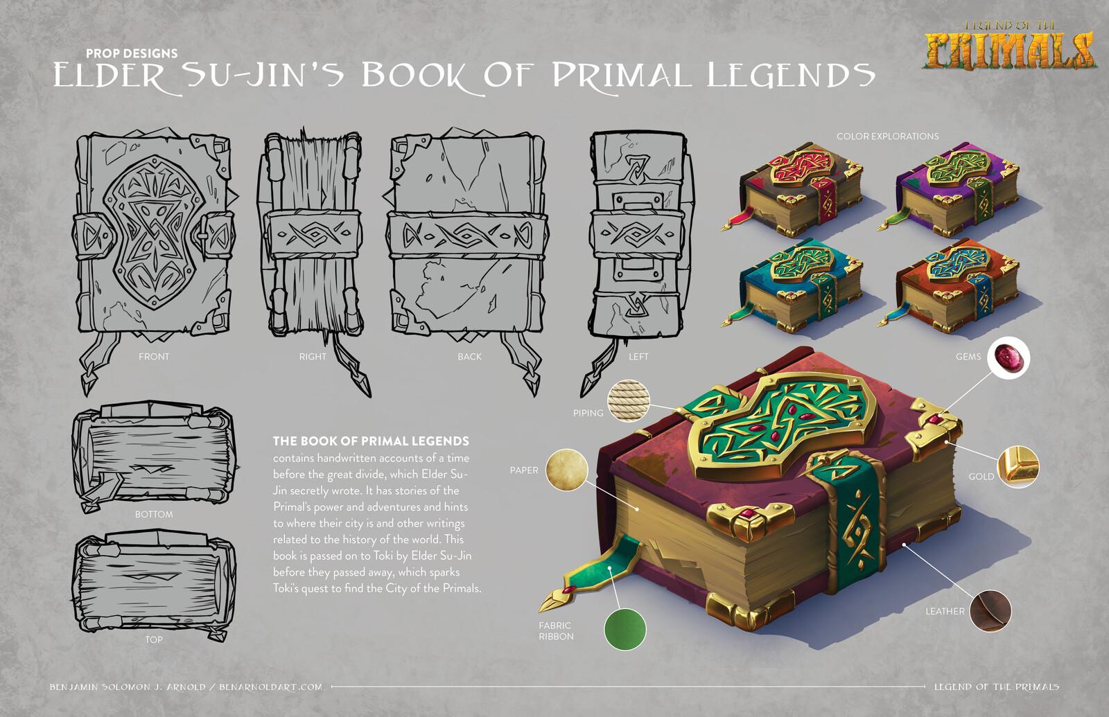 Legend of the Primals: Elder Su-Jin's Book of Primal Legends Prop Design