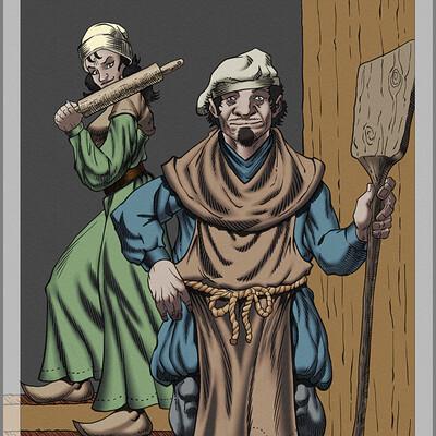 Robert shepherd baker and wife colors