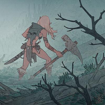 Tim mcburnie fantasy sketch 06 aravsogre