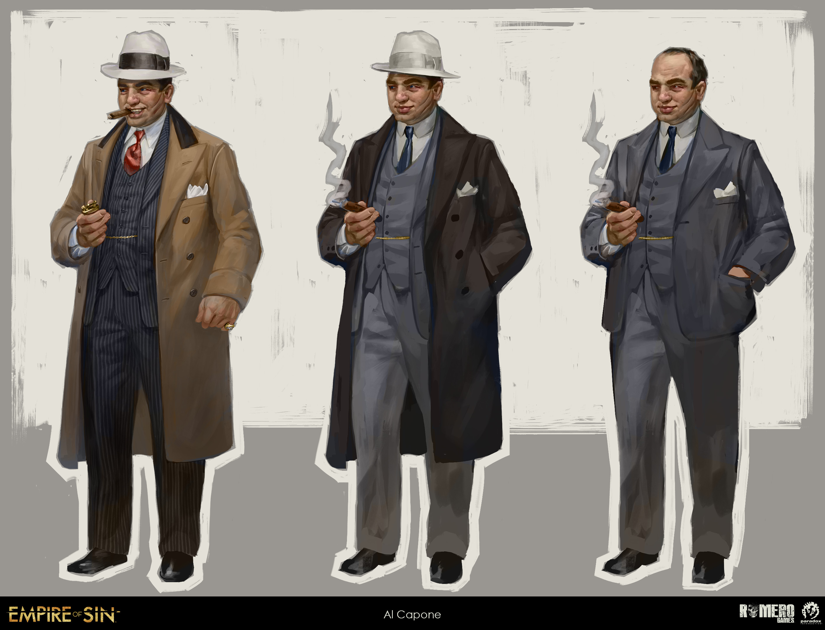 Al Capone concept art. Italian-American boss of The Outfit.