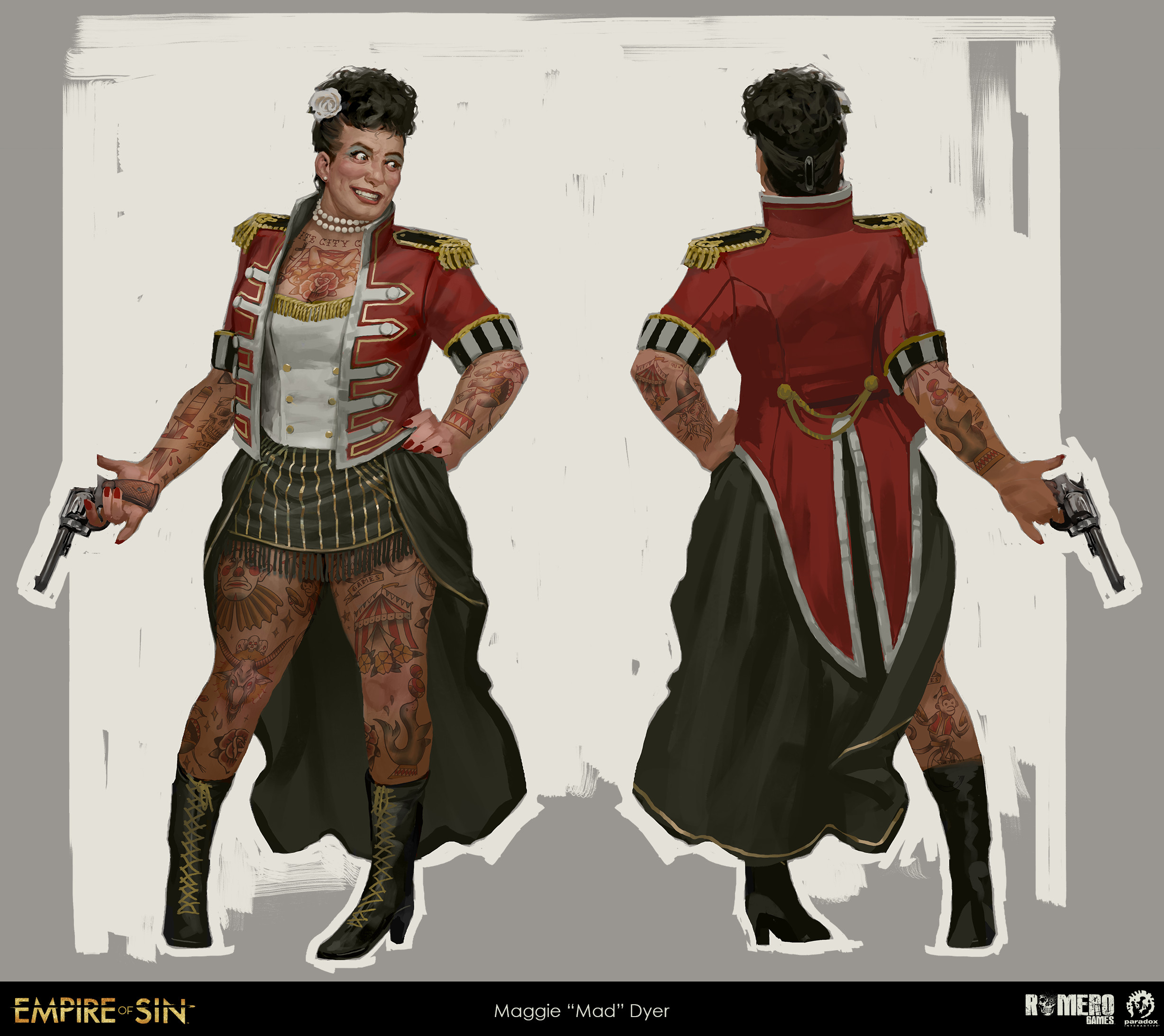 Maggie Dyer concept art. American boss of the White City Circus.