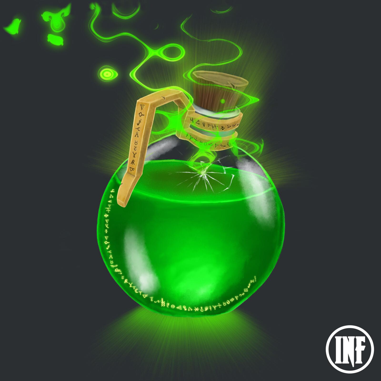 Green Leaking Potion