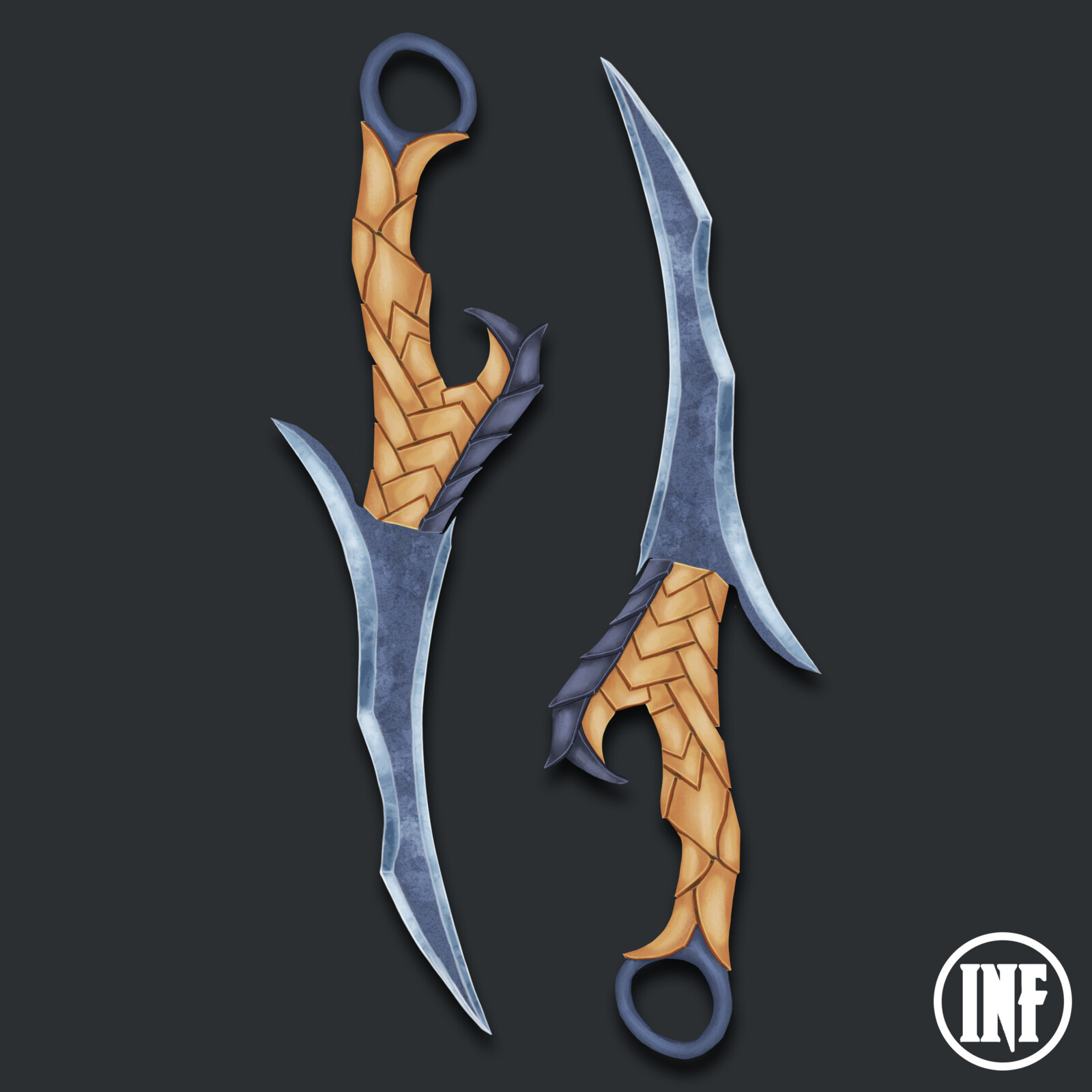 Curved Asymmetrical Throwing Dagger