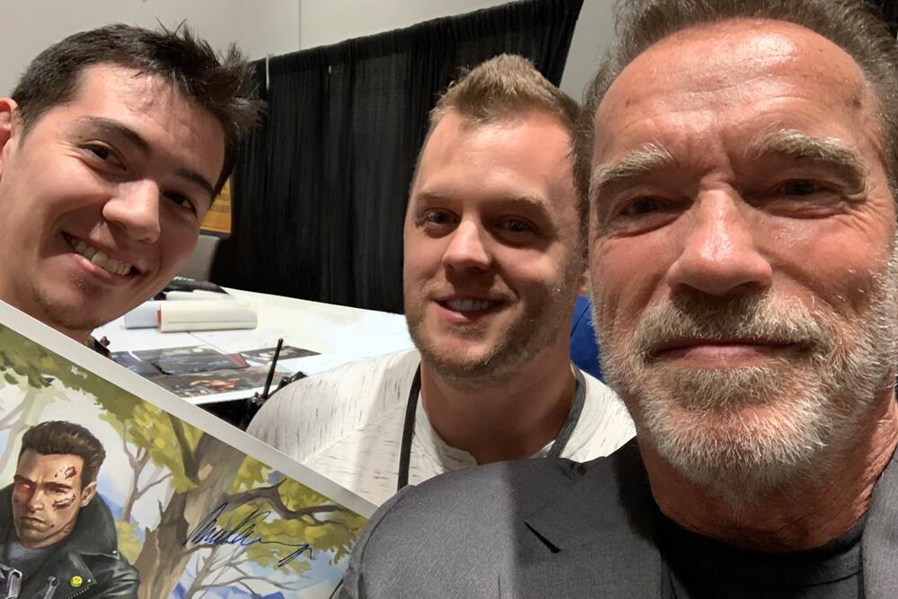 Me, Josh, Arnold