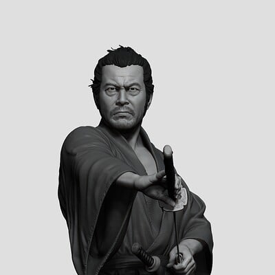 Toshiro Mifune 1:6th scale statue