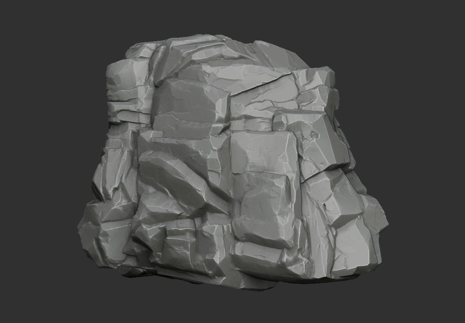 Rock High-Poly sculpt
