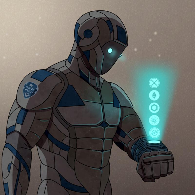 Cyborg Crypto Art