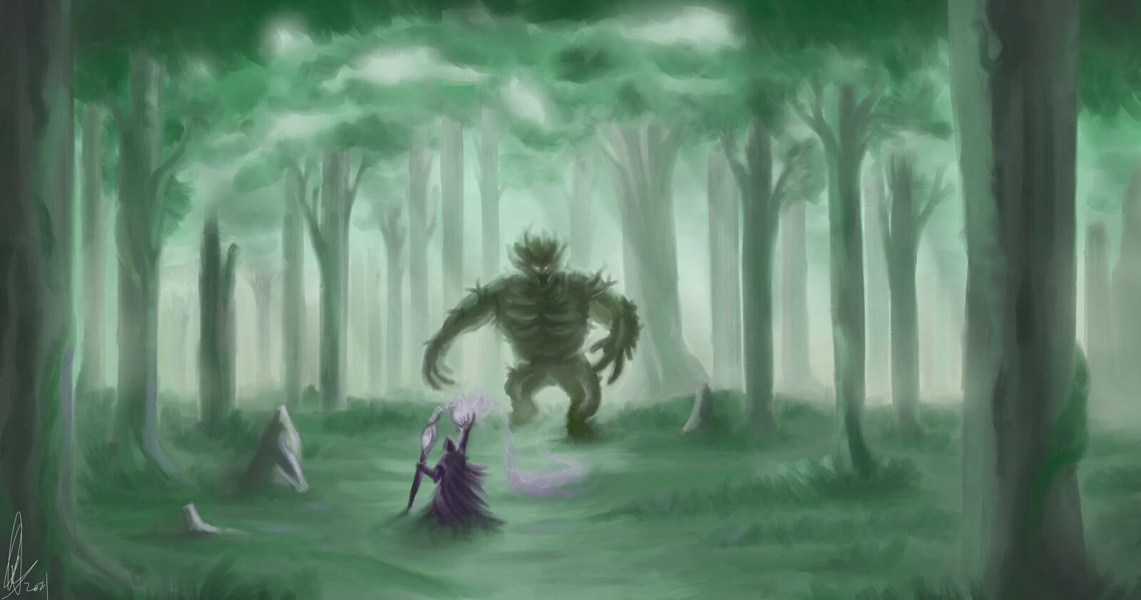 Tales of Maj'Eyal Fanart - Trollmire Fight
