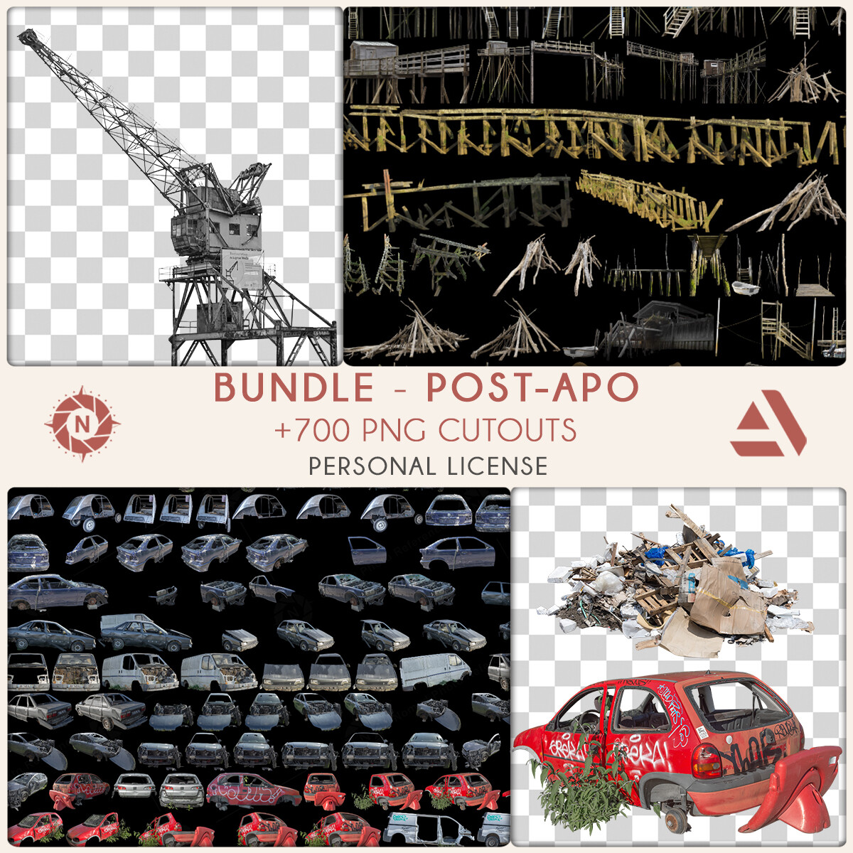 Bundle PNG Photo Packs: Post-Apocalyptic - Personal License  https://www.artstation.com/a/6276903