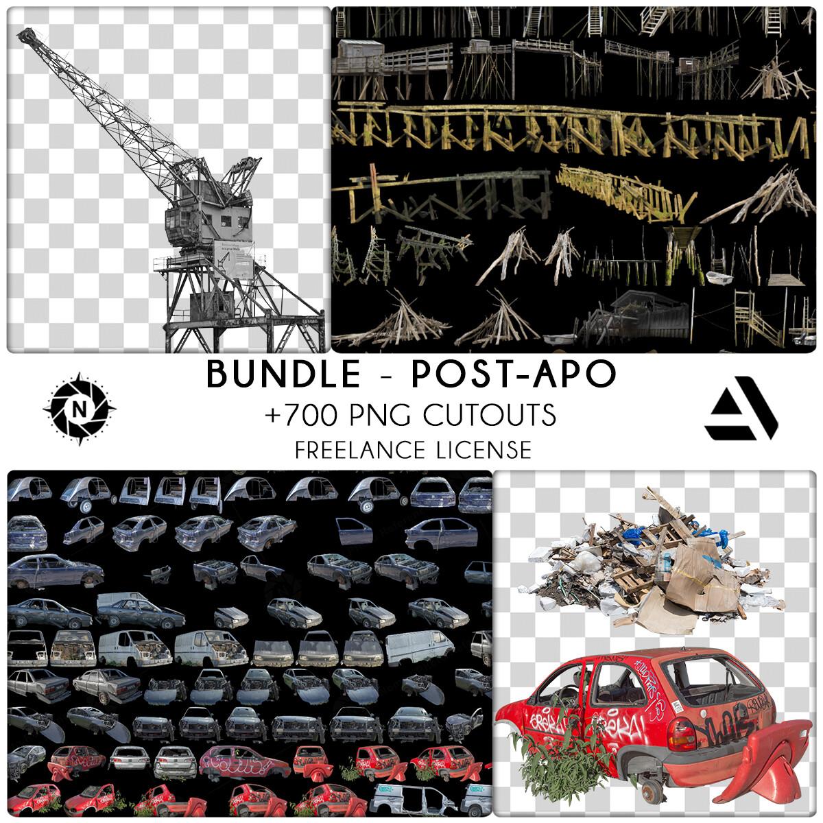 Bundle PNG Photo Packs: Post-Apocalyptic - Freelance License  https://www.artstation.com/a/6276937