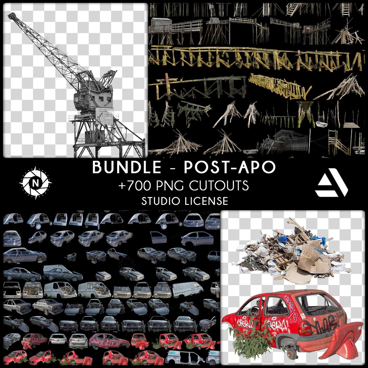 Bundle PNG Photo Packs: Post-Apocalyptic - Studio License  https://www.artstation.com/a/6276955