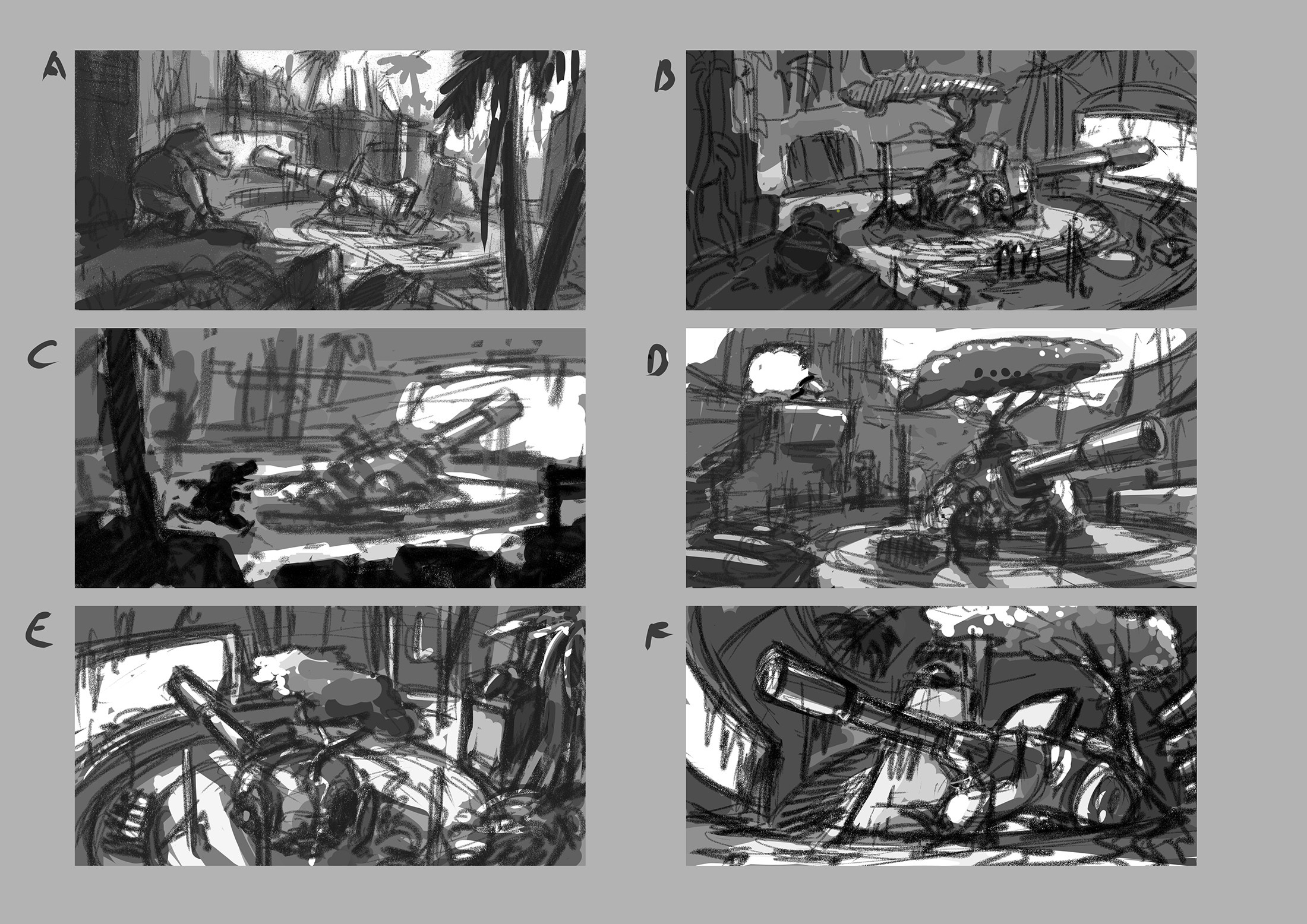 initial option sketches