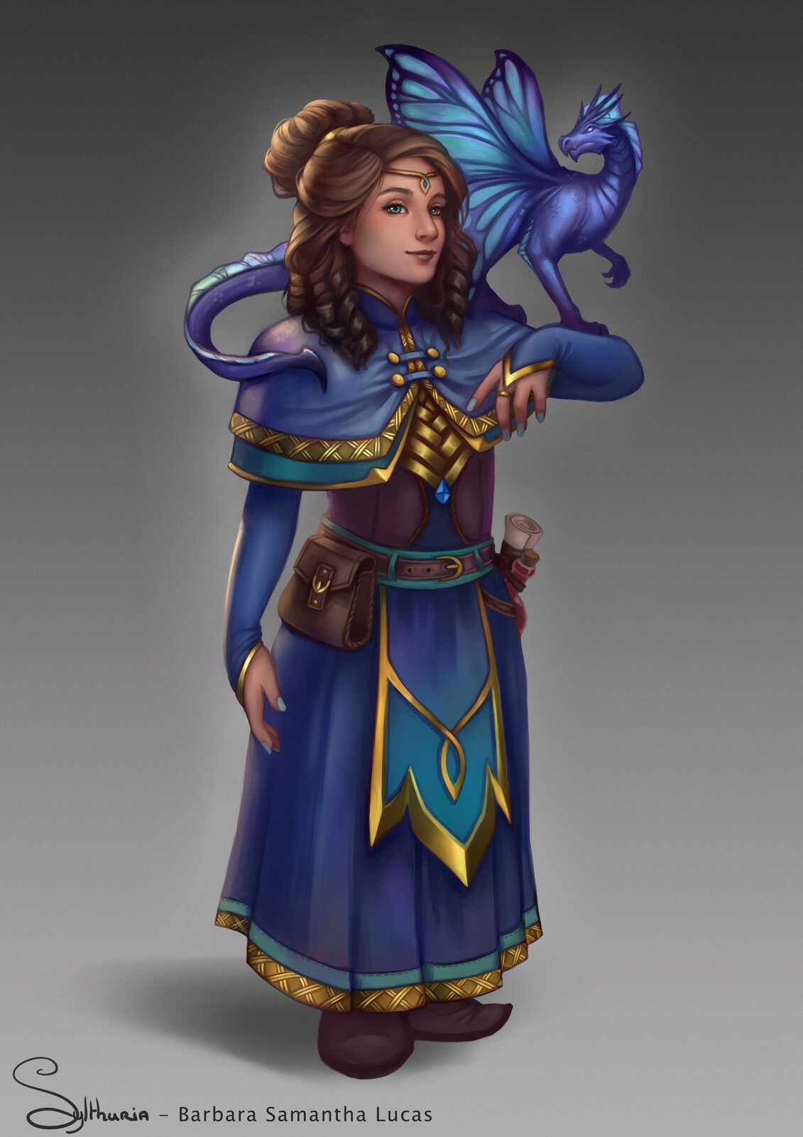 Halfling and Faerie Dragon - D&D Character