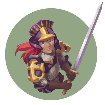 Rude roo swordsman