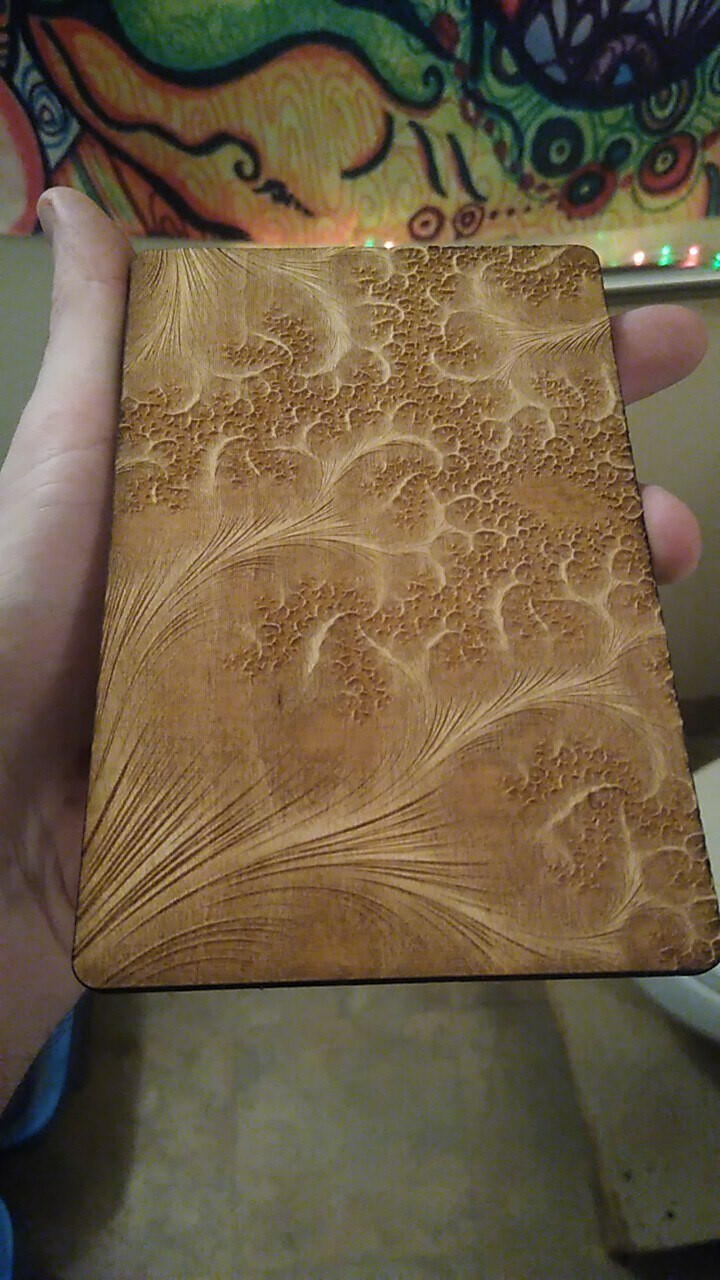 """The beautiful """"brushstroke"""" texture employed here made for one of the most pleasing engravings to run your fingers along."""