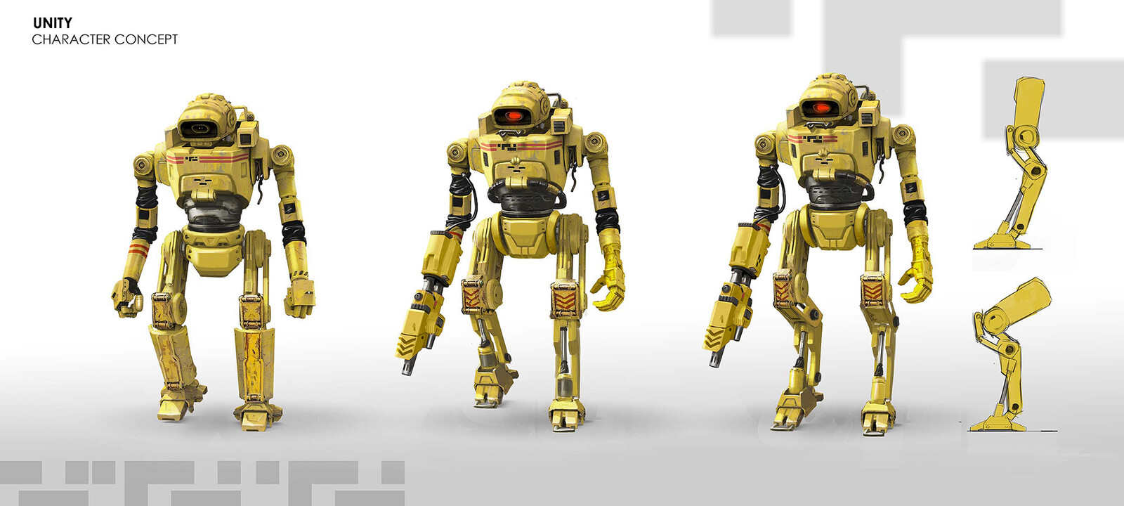 Unity game character concept