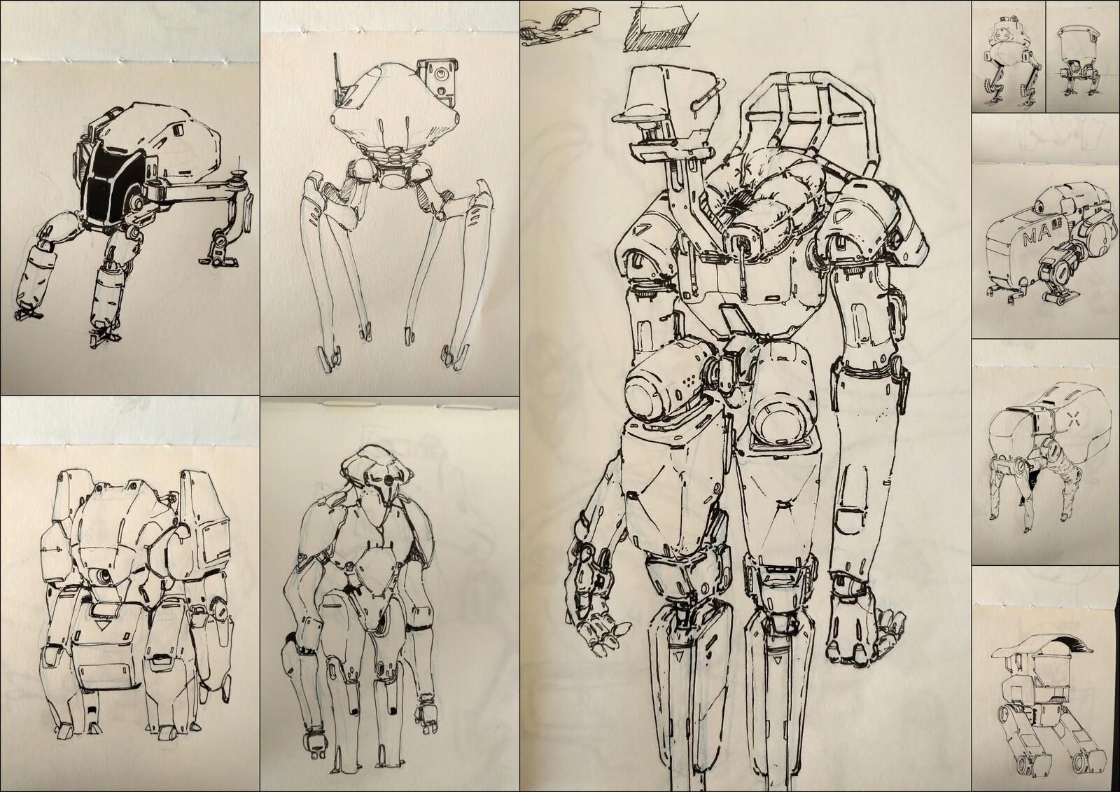 Mecha Sketches