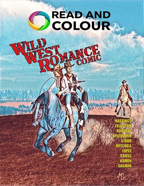 Read and Colour: Wild West Romance Comic