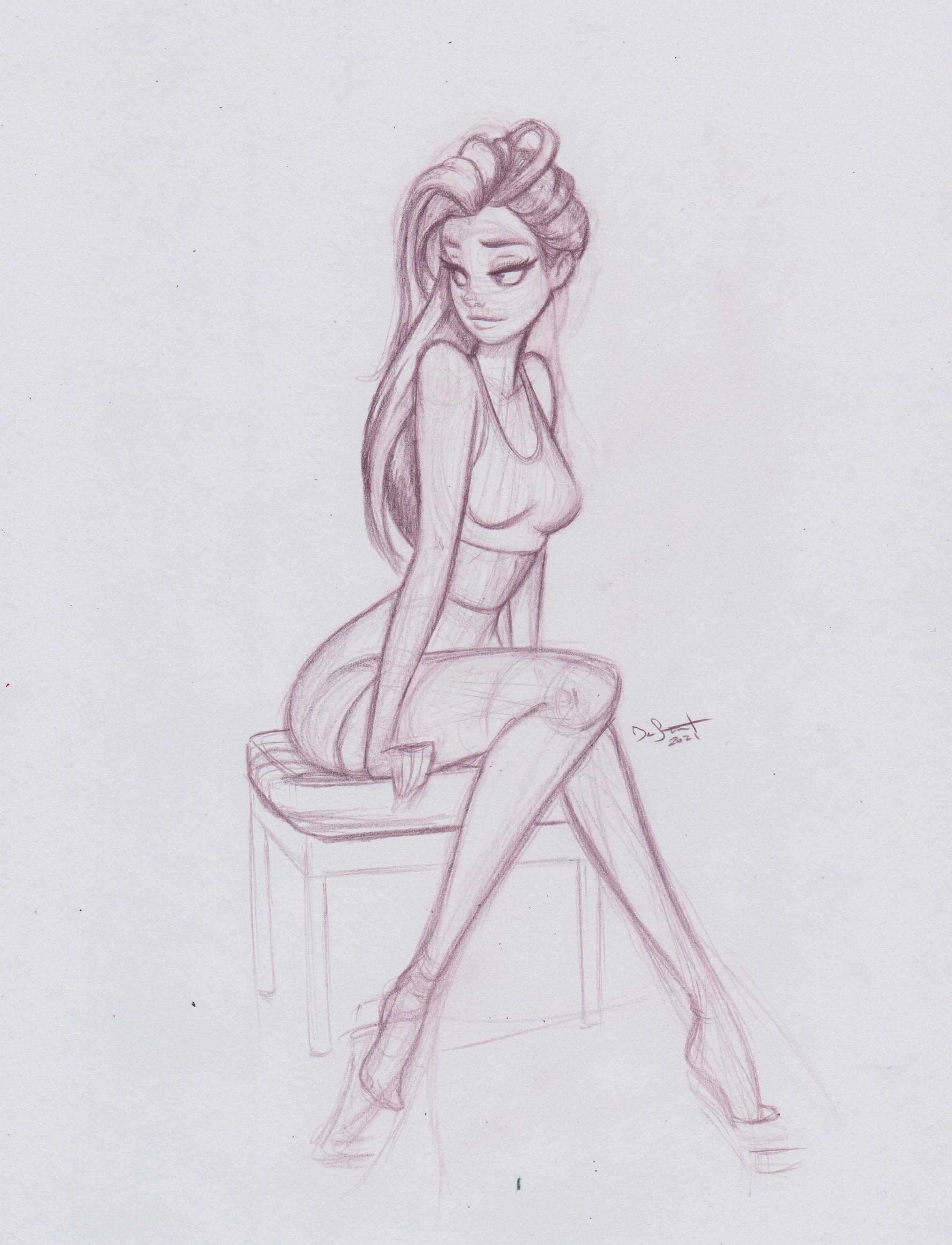 Original Pencil Sketch D. Stewart 2021