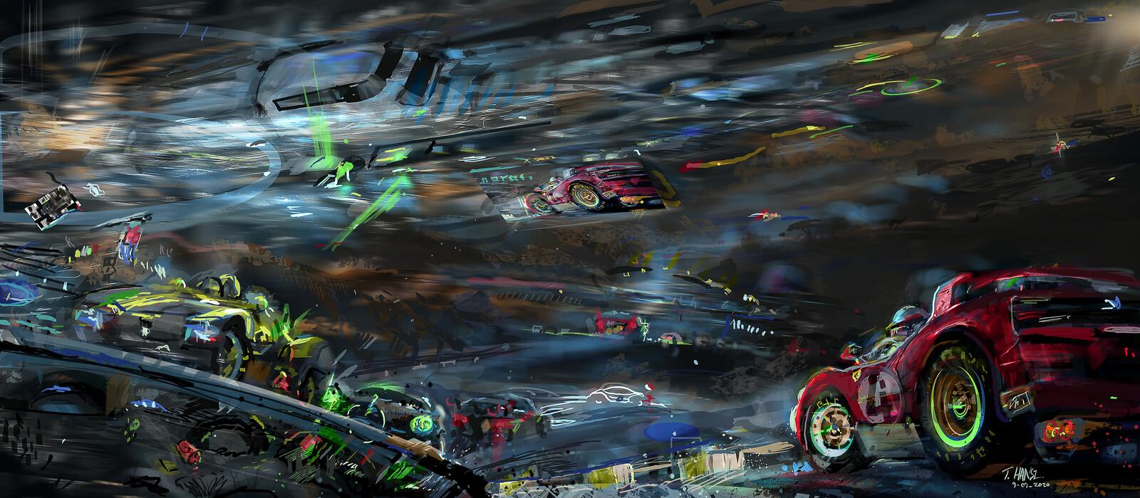 Night race.