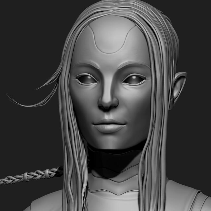 Alien Girl CG Character