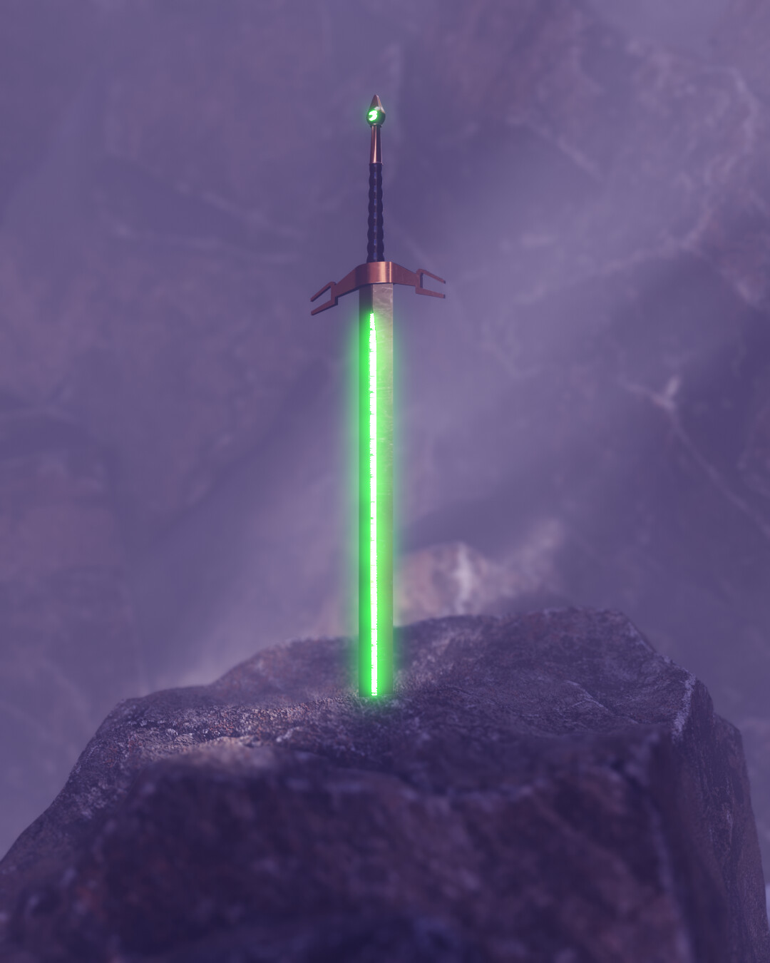 3D Sword in Stone