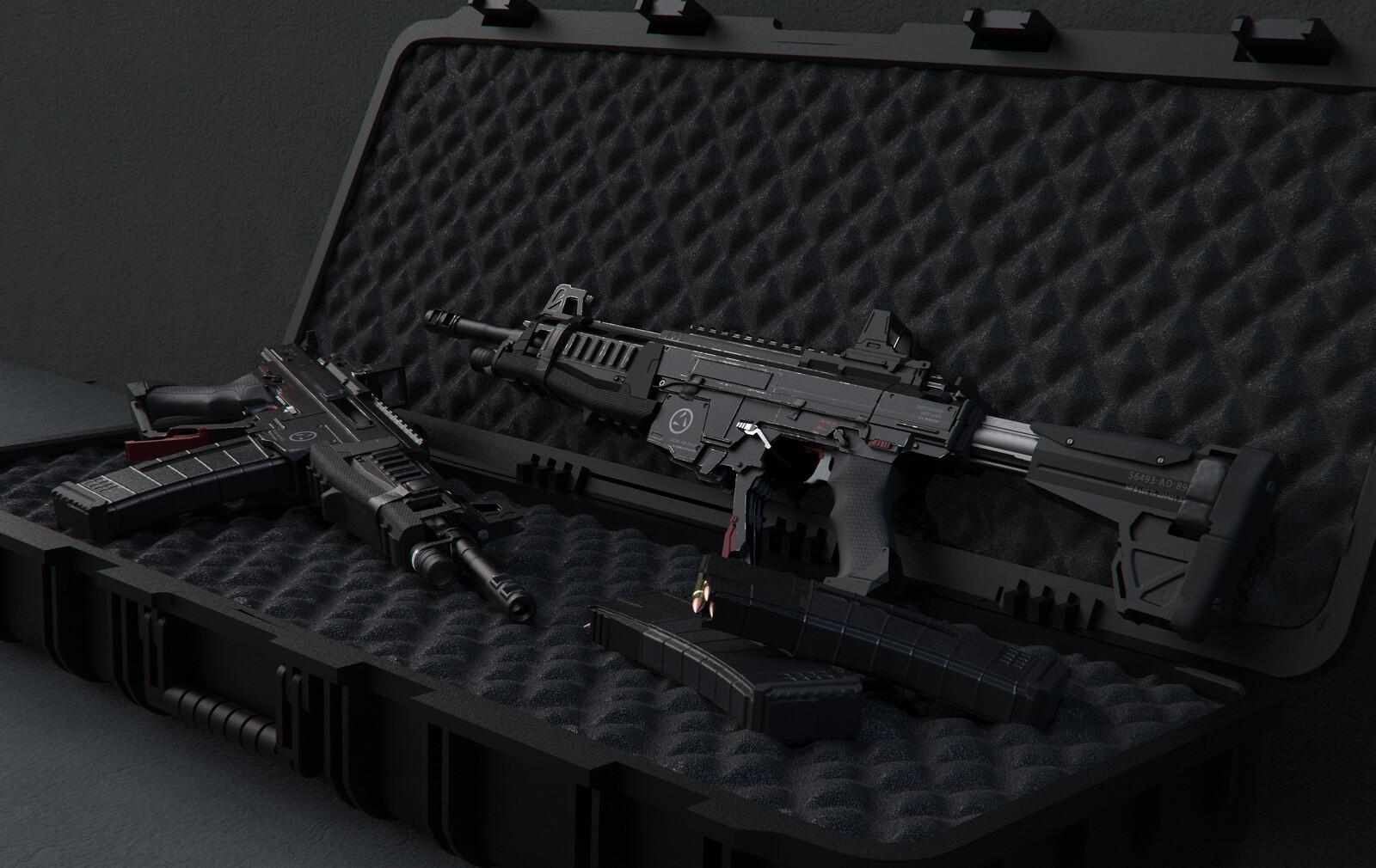 Next Gen Assault Rifle ( + Concept Design Time-lapse Video)